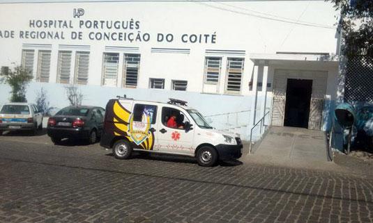 Vítima foi socorrida e levada para o Hospital Português | Foto: João Wilson/Notícias de Santaluz/Arquivo