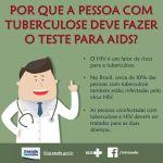 CRUZ VERMELHA DE SÃO PEDRO DA ALDEIA – Você sabia que pessoas com tuberculose precisam fazer o teste para aids?