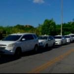 CABO FRIO – Taxistas de Cabo Frio protestam contra transportes clandestinos