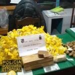 AÇÕES POLICIAIS – Mulher é presa com mais de 9 kg de drogas dentro de ônibus na RJ-106