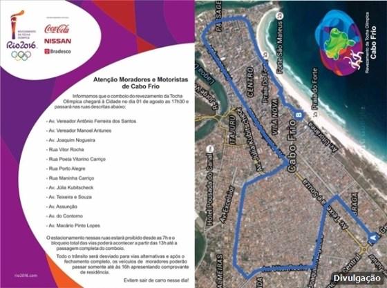 Cabo Frio divulga percurso do revezamento da Tocha Olímpica 1