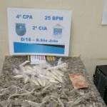 AÇÕES POLICIAIS – Homem é preso com drogas no bairro São João, São Pedro da Aldeia