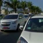 SÃO PEDRO DA ALDEIA – Taxistas protestam contra transporte irregular em São Pedro da Aldeia