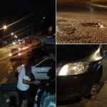 SÃO PEDRO DA ALDEIA – Buraco na RJ-140 estoura pneus e faz fila de carros às margens da via