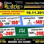 ÓTICAS RODRIGO – Sexta-feira (18) é dia de ESQUENTA BLACK FRIDAY nas Óticas Rodrigo