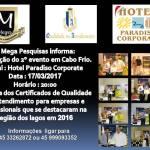 MEGA PESQUISA E PUBLICIDADE – Certificado de Qualidade no  Atendimento 2016 será entregue no Hotel Paradiso Corporate, em Cabo Frio