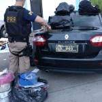 AÇÕES POLICIAIS – Carro com placa de Câmara é flagrado com produtos irregulares em Itatiaia