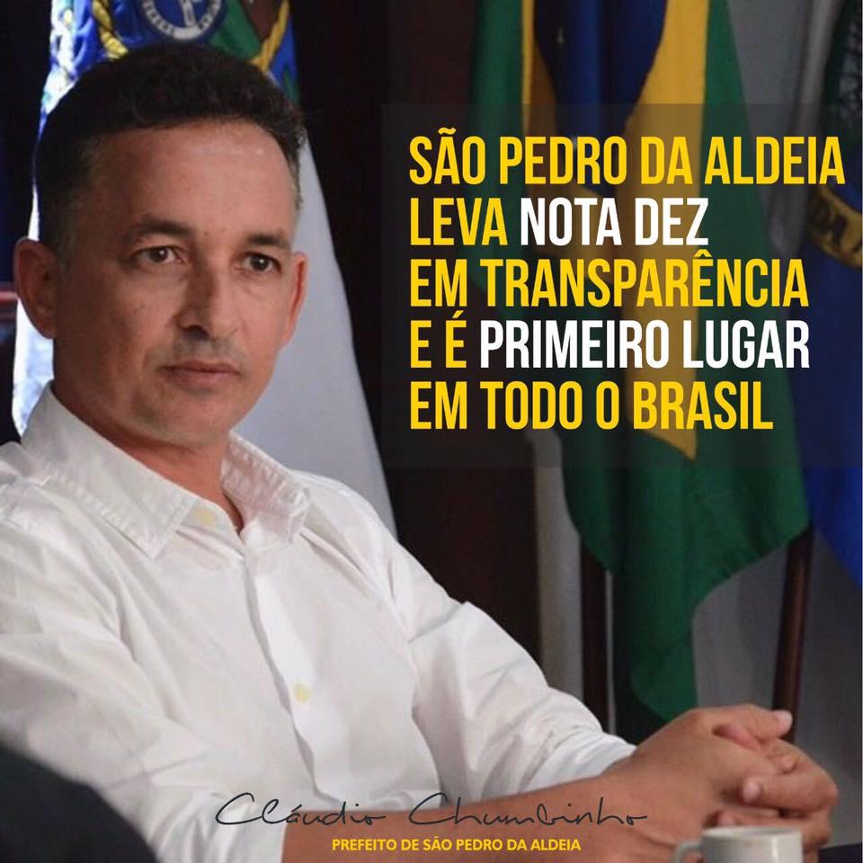DESTAQUE – São Pedro da Aldeia leva nota 10 em transparência e é 1º lugar no Brasil