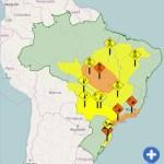 ALERTA – Inmet emite aviso de atenção com risco de vendaval para cidades do interior do Rio