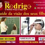 ÓTICAS RODRIGO – Importância de fazer um exame de vista antes da volta às aulas