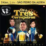 """EVENTO – Teatro Municipal de São Pedro da Aldeia apresenta espetáculo de stand up """"Os três cervejeiros"""""""