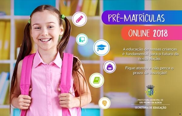 SÃO PEDRO DA ALDEIA INICIA PRÉ-MATRÍCULAS ONLINE NA PRÓXIMA SEGUNDA-FEIRA (08)