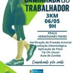 SÃO PEDRO DA ALDEIA – 1ª Caminhada do Trabalhador acontece neste domingo (06) em São Pedro da Aldeia