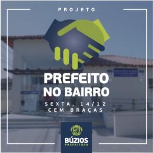 BÚZIOS – Cem Braças vai receber o 1º dia do programa Prefeito no Bairro