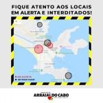 ARRAIAL DO CABO – Prefeitura atualiza situação da interdição da entrada da cidade