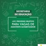 SÃO PEDRO DA ALDEIA – Secretaria de Educação aldeense abre Processo Seletivo para vagas de Assistente Alfabetizador