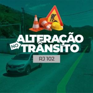 CABO FRIO – Prefeitura vai interditar parte da RJ-102 na segunda e terça (11 e 12)
