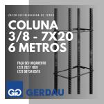 Zafer RA Distribuidora de Ferro e Aço – Coluna 3/8 – 7X20 com 6 metros em promoção na Zafer