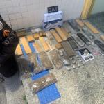 PM prende homem com 23 Kg de maconha no Porto do Carro