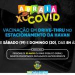 São Pedro da Aldeia promove mutirão de vacinação drive-thru contra a Covid-19 neste fim de semana