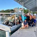 Ações de limpezas das Ilhas Feia e Caboclo recolhem mais de duas toneladas de lixo em Búzios