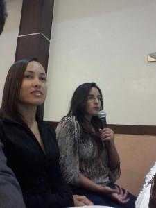 Ruth Pascual y Mariana Luna durante una intervención.
