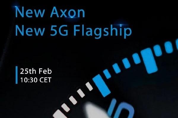 Telefone 5G da ZTE será revelado dia 25 de fevereiro
