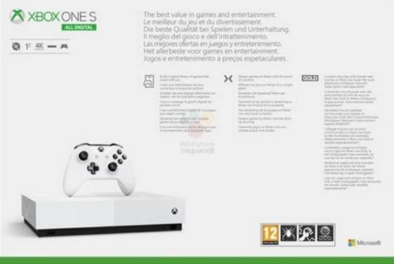 Xbox One S All Digital 3 - Microsoft Xbox One S All Digital vai estar à venda a 7 de maio por 229 euros