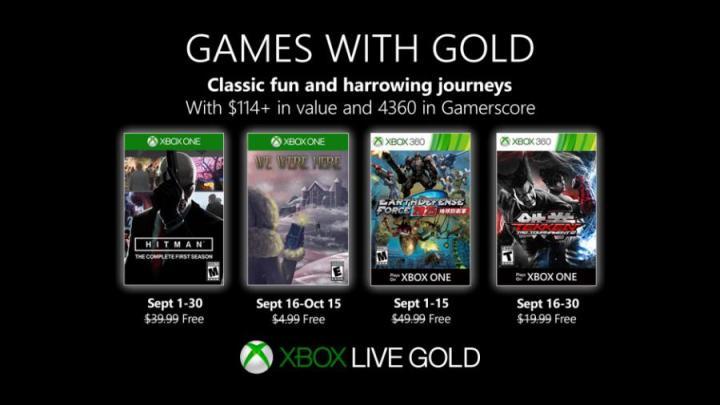 Xbox Games With Gold Setembro - Microsoft anuncia os Xbox Games With Gold de Setembro