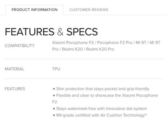 Pocophone F2 2 - Spigen sugere um lançamento eminente do Pocophone F2