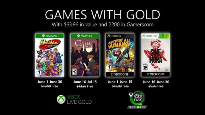 Games With Gold Junho 2020