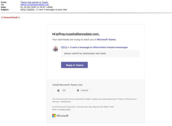 Phishing Microsoft Teams