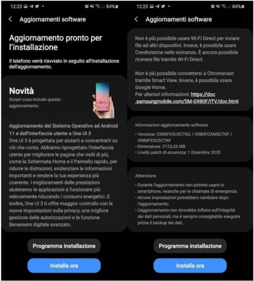 Galaxy S20 Android 11