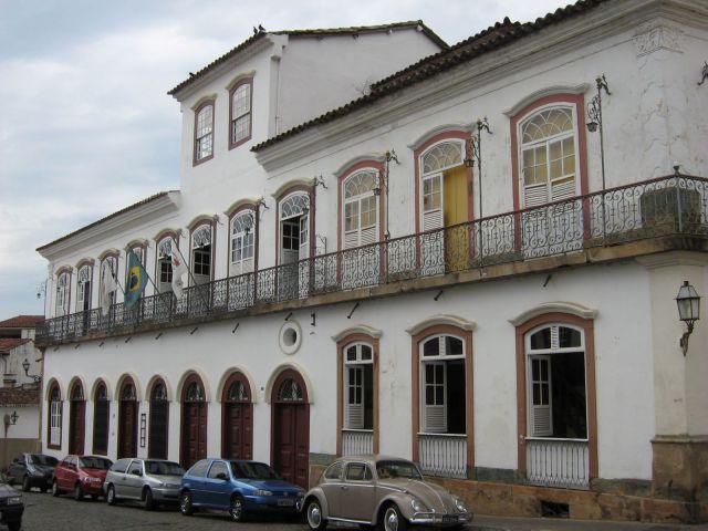 Fachada do Centro Cultural de UFSJ, no centro histórico de São João el-Rei