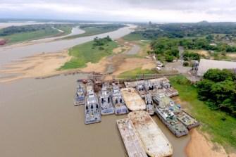 Bajante en río Paraguay dificulta la navegación de buques  