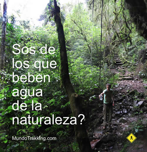 agua potable de la naturaleza