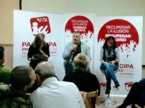 Vanessa Lillo, Javier Viondi y Tania Sánchez.