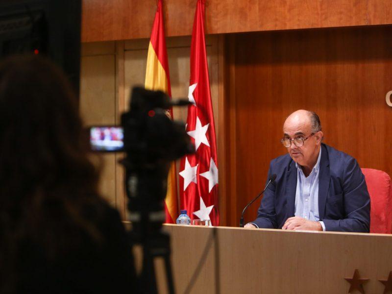 Rueda de prensa sobre la situación epidemiológica por Covid-19 en Madrid