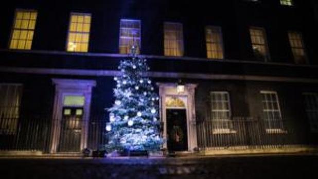 árbol de Navidad imagen copyright de Downing Street