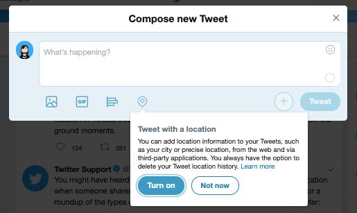Función de codificación de ubicación de Twitter para tweets en su sitio web