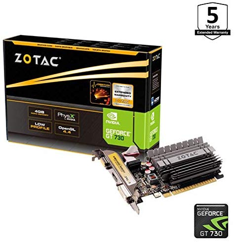 Zotac ZT-71115-20L – Tarjeta gráfica (GeForce GT 730, 4…