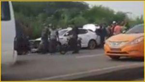 Video: Tiroteo deja un muerto y otros heridos autopista Joaquín Balaguer