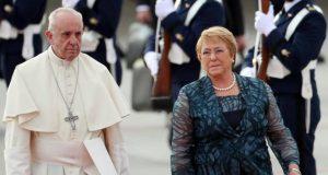 El papa Francisco llega a Chile