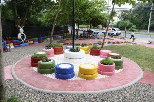 Alcalde Abel Martínez entrega el segundo de diez jardines ecológicos en espacios rescatados