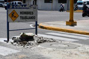 CORAASAN nivela 500 registros de aguas residuales de calles y avenidas de Santiago
