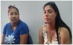 PN apresa dos mujeres que pretendían retirar 50 mil pesos de agencia de envío en Mao, producto de un chantaje