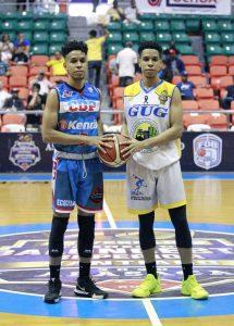 Trillizos del baloncesto de Santiago causan impresión en la fanaticada