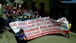 Se manifiesta, nuevamente, Antorcha Campesina en Coxcatlán