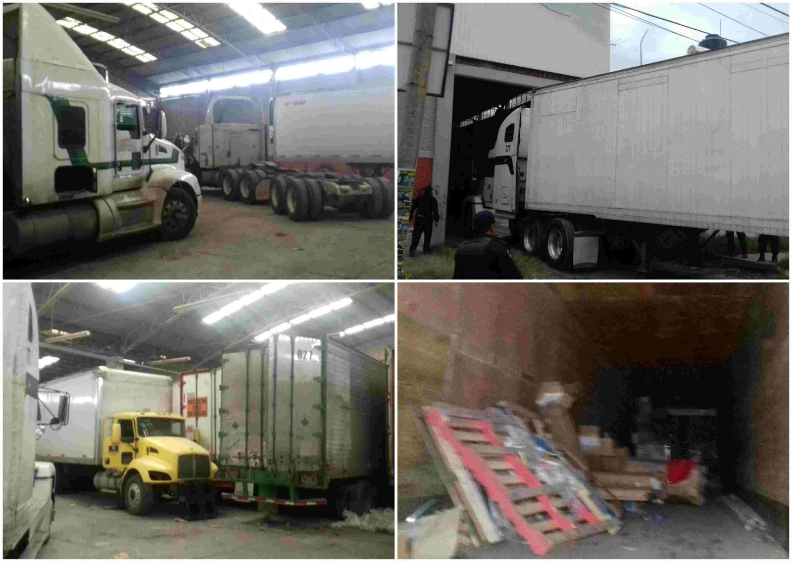 Recuperan vehículos y mercancía en cateo a bodega