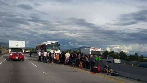 30 heridos en choque, fue en la autopista Puebla - Orizaba